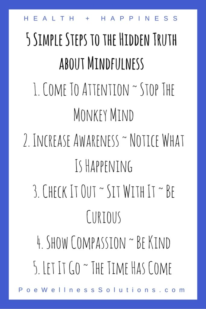 5 Simple Steps to the Hidden Truth about Mindfulness