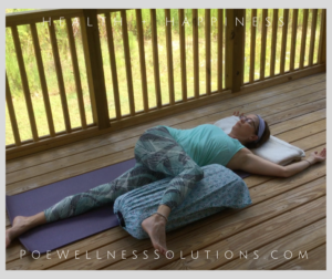 Support the head to relieve neck stress. Do not wrap legs to reduce intensity.
