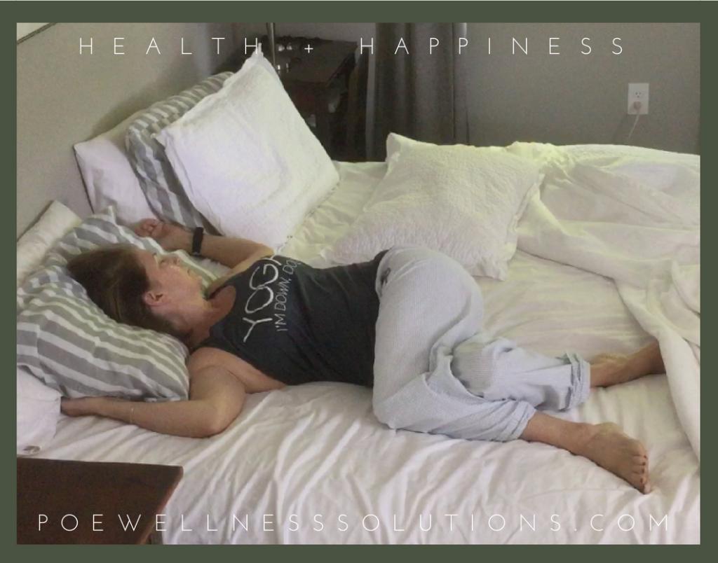 Yin Yoga in Bed, Morning Yin Yoga Twisted Root