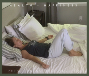 Yin Yoga Twisted Root in bed