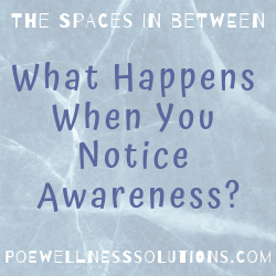 What Happens When You Notice Awareness?