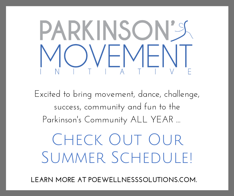 Poe Wellness Solutions, ADF and NC Dance for Parkinson's Summer Schedule